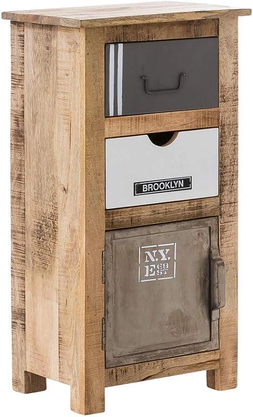 Woodkings Bad Unterschrank Pune Holz Natur Rustikal Und Metall