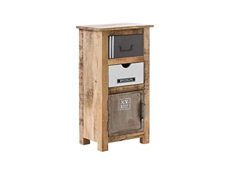 Woodkings® Bad Unterschrank Pune Holz Natur rustikal und ...