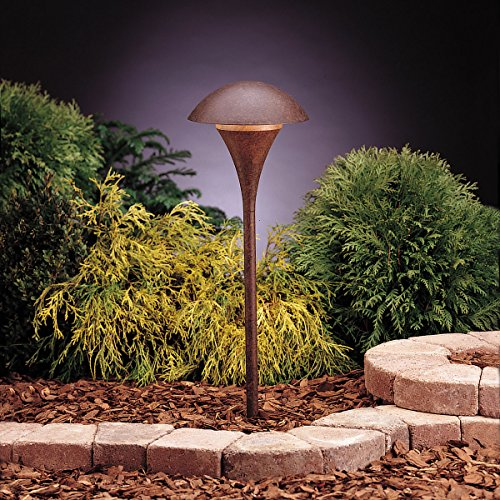 (Kichler 15336TZT, Eclipse Low Voltage Post Landscape Path Lighting Fluor, Tannery)