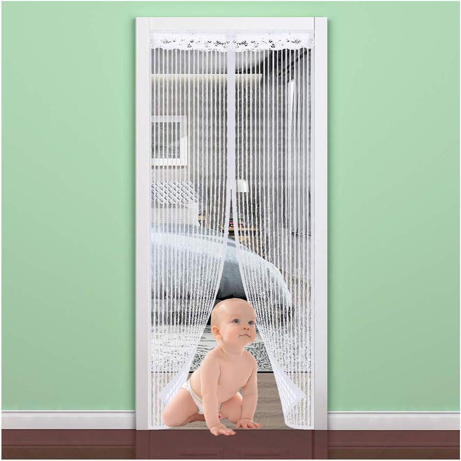 salon blanc Wafwyy Moustiquaire magn/étique /à fermeture automatique et sans perforation pour porte ou fen/être balcon patio