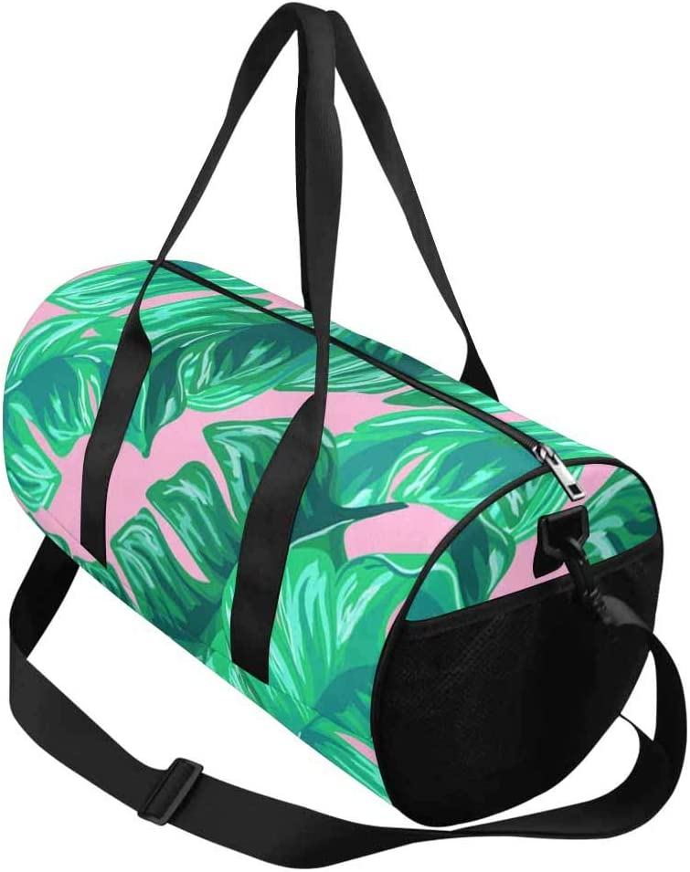 INTERESTPRINT Exotic Banana Leaves Travel Overnight Carry on Bag