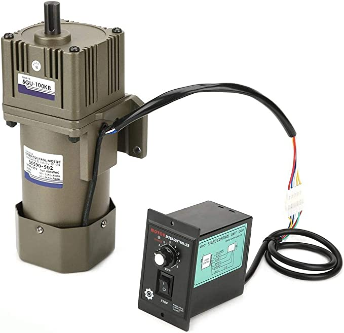 Single Phase Asynchronous Motor Continuously Variable Speed Gear Box Deceleration Motor Speed Reduction Ratio 50K