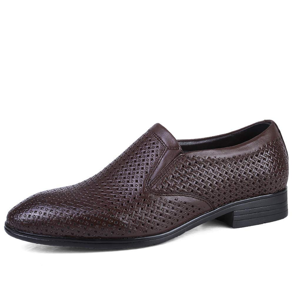 2018 Herren Business Oxford Casual Größe des Codes British Leder und ausgehöhlten Formelle Schuhe (Farbe   Hollow Dark braun, Größe   41 EU) (Farbe   Wie Gezeigt, Größe   Einheitsgröße)