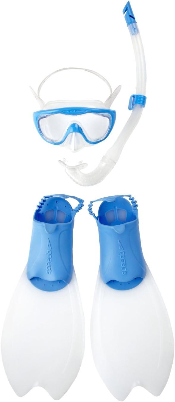 M/áscara de Snorkel y Buceo Infantil Color Azul Speedo Junior Glide