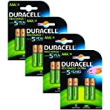 Duracell AAA Pre-Charged Rechargeable Batteries - Pack of 16