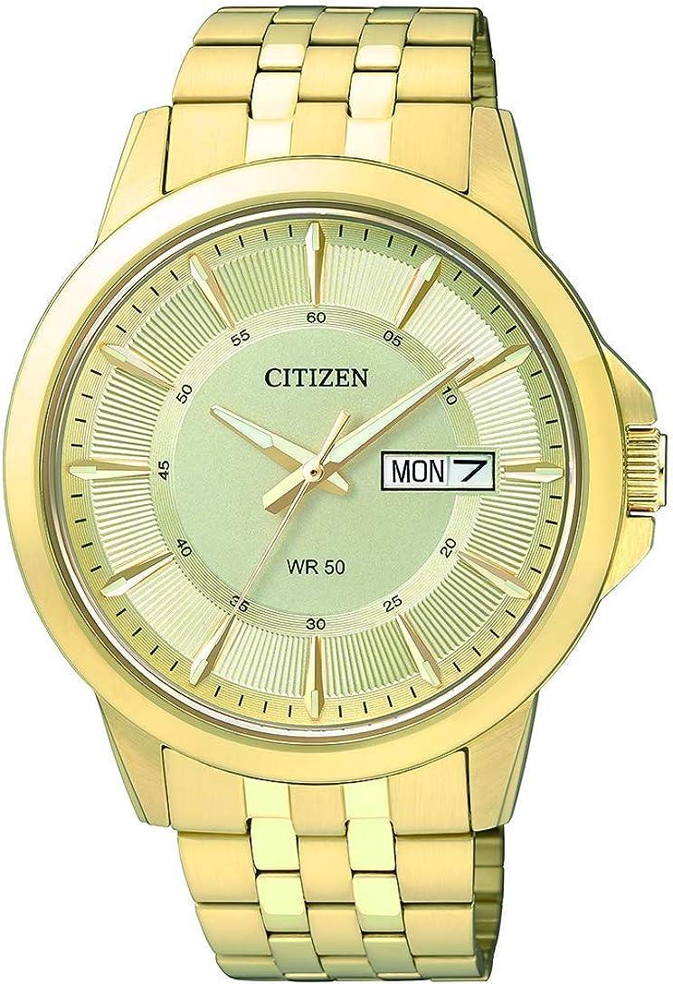 Citizen para Hombre Reloj de Acero Inoxidable en Color Dorado Crystal-Accent