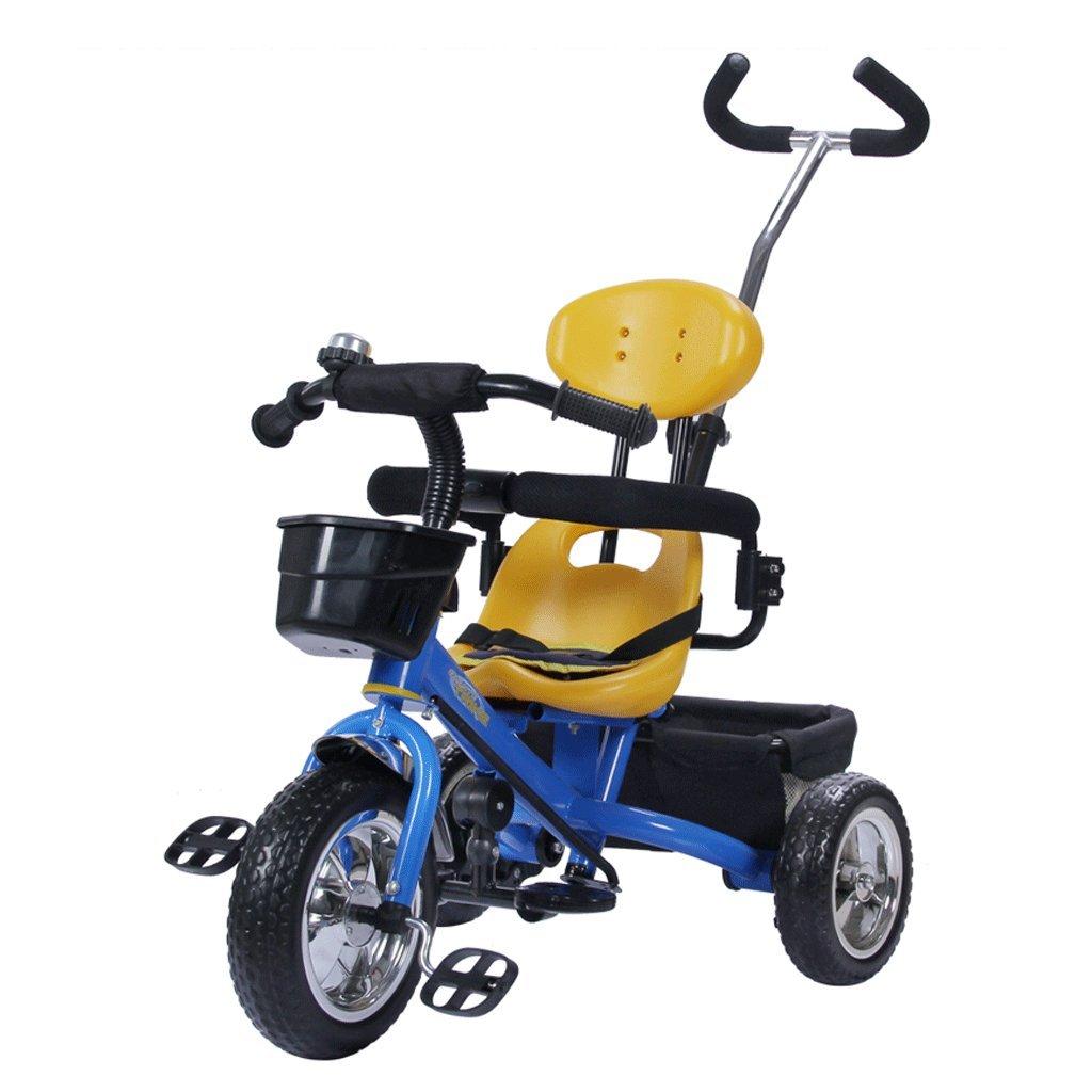 子供の三輪車の自転車の赤ちゃんカート1-5歳の子供の自転車幼児の車、青、赤、85 * 45 * 100センチメートル ( Color : Blue ) B07C6Y83GP