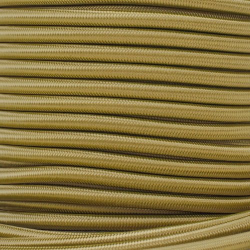 (West Coast Paracord Marine Grade Shock Cord 1/4-inch - Lengths up to 1000 feet - Made in USA (100 Feet, Gold))