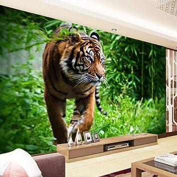 Papel Pintado Fotomural Tigre de la selva Fondo de Pantalla ...