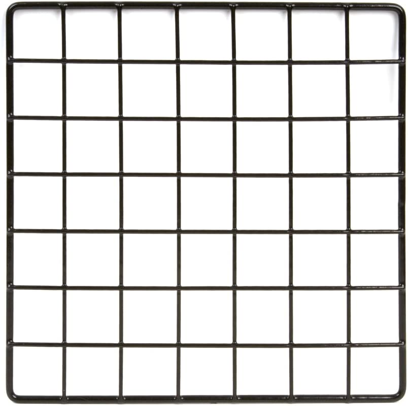 Pack of 48 Econoco Commercial Epoxy Coated Grid Cubbies Black 10 Length x 10 Width