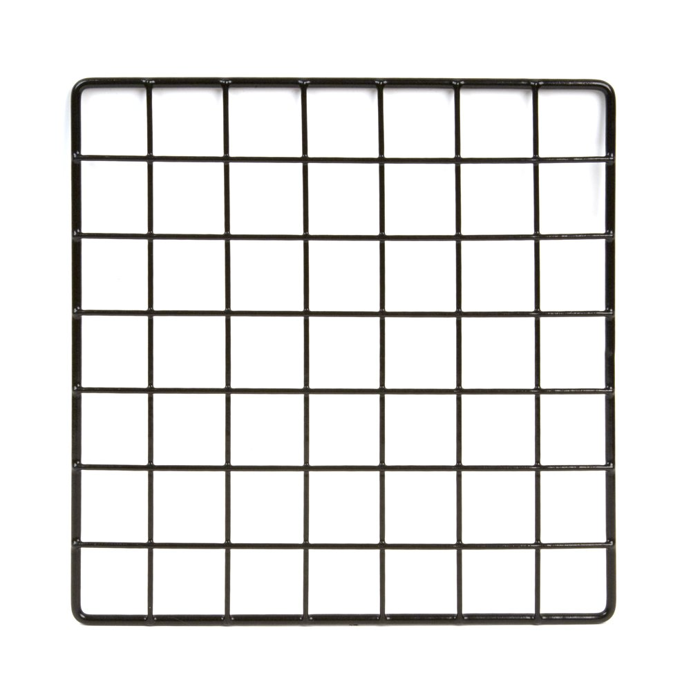 Econoco Commercial Epoxy Coated Grid Cubbies, 10'' Length x 10'' Width, Black (Pack of 48)