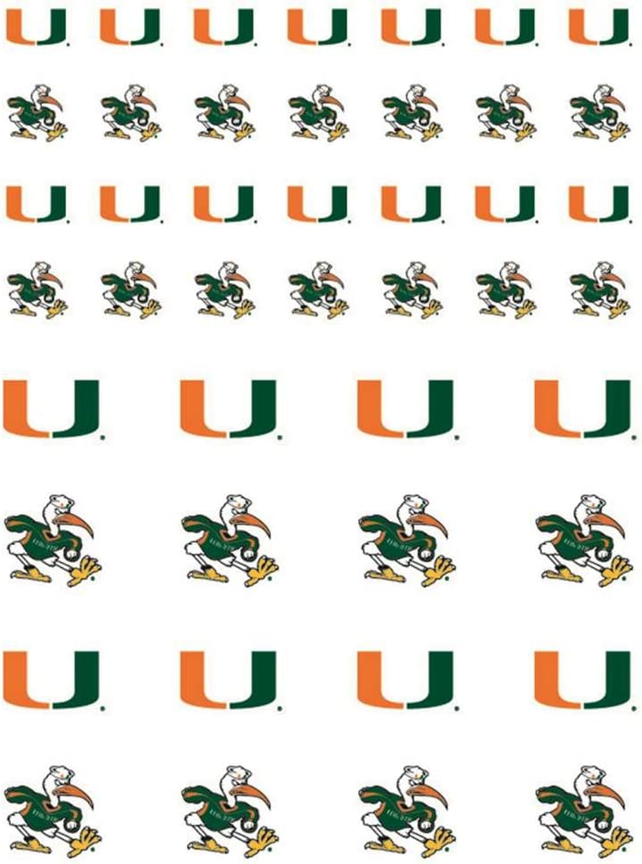 The Fanatic Group Miami Hurricanes Small Sticker Sheet - 2 Sheets