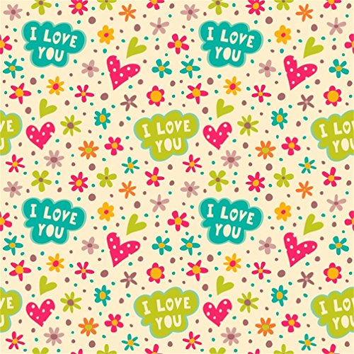 CSFOTO 8x8ft Background for Sweet Baby Shower Happy Birthday Party Decor Photography Backdrop Color Flowers I love you Child Kid Birthday Celebration Ornament Photo Studio Props Vinyl Wallpaper (Digital 8' Album Photo)
