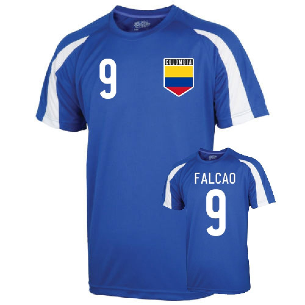 Colombia Sports Training Jersey (falcao 9) Kids B01LACHL8UBlue MB (7-8 Years)