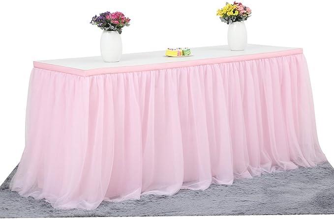 Tüll Tischdecke Tischrock Für Party Hochzeit Bankett Zuhause Dekoration Knitterfreie Tischdecke Für Weihnachtsfeiern Von Best Of Best Rose Küche Haushalt