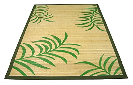 Tappeto Salotto Verde : Savino fiorenzo tappeto in bambù decorato verde 140x200 cm per