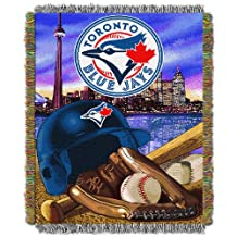 MLB Toronto Blue Jays Acrylic Tapestry Throw Blanket