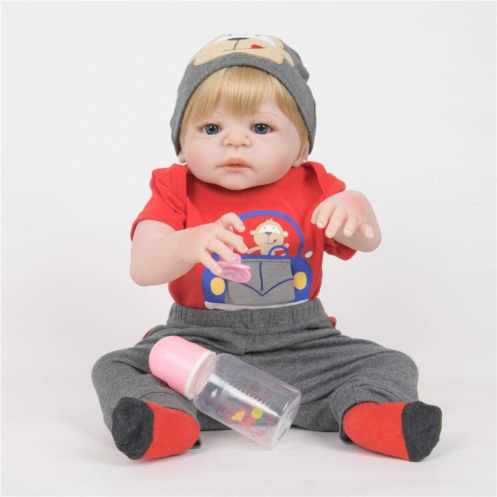 Hongge Reborn Baby Doll,Realismo Renacimiento bebé Soft Gel Kids muñeca Juguetes Mejor Regalo de cumpleaños de Navidad 55cm