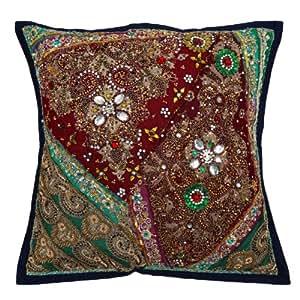 Tradicional Caso Cojín Patchwork bordado camas Home Décor almohada cubierta India Regalos