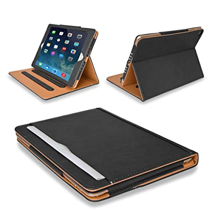 5a8b43531a6 MOFRED® Black   Tan Apple iPad Air (Launched November 2013) Executive  Leather Case