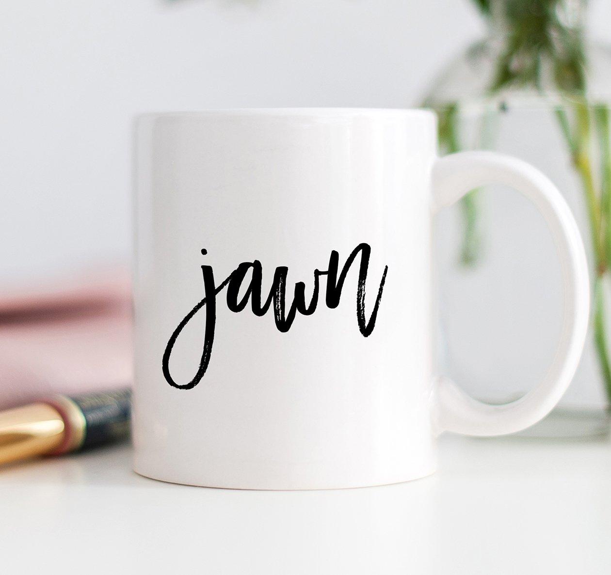 jawn Philly Coffee Mug Philadelphia Gift Funny Cool Phila Hip Hop Urban Birthday Christmas Idea for Son or Daughter - 11oz Ceramic Tea Cup by Digibuddha DM0076