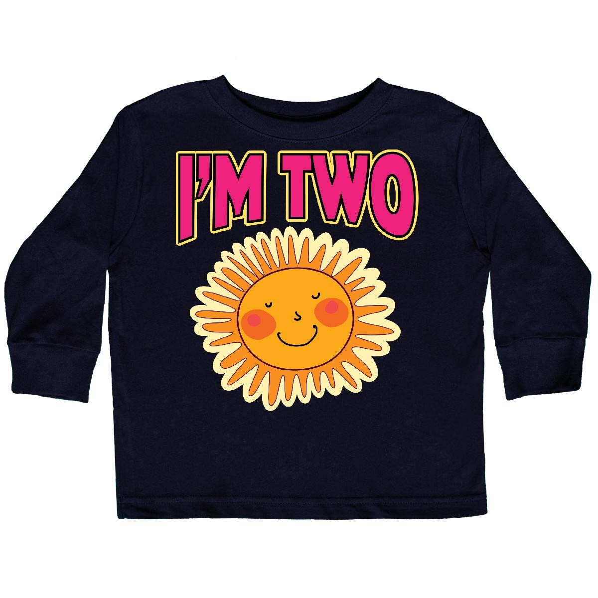 inktastic 2nd Birthday Sunshine 2 Year Old Toddler Long Sleeve T-Shirt