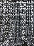 Efavormart 20ft x 10ft Damask Flocking Party Wedding Backdrop,Photography Background Black/White Review