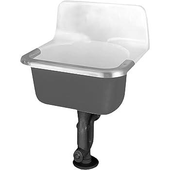 Kohler K 12787 0 Gilford Scrub Up Plaster Sink White