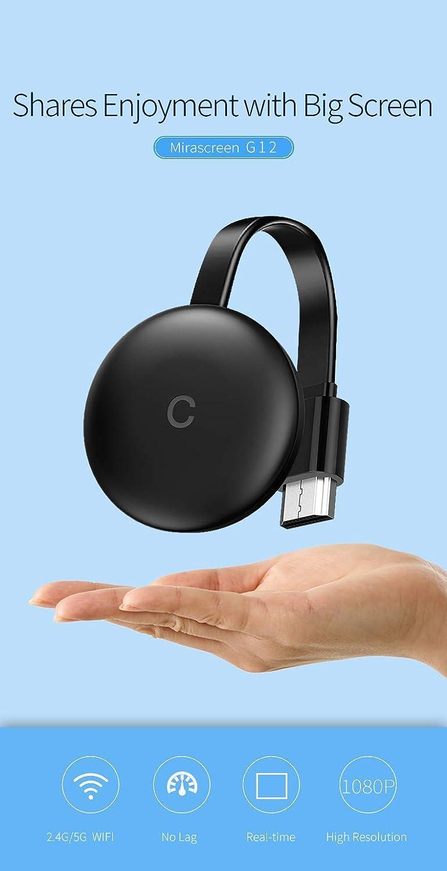 Alician Electronic Receptor de Pantalla inal/ámbrico HDMI para Chromecast Google Pusher de 2,4 G WiFi HDMI Adaptador de Espejo Miracast Airplay DLNA
