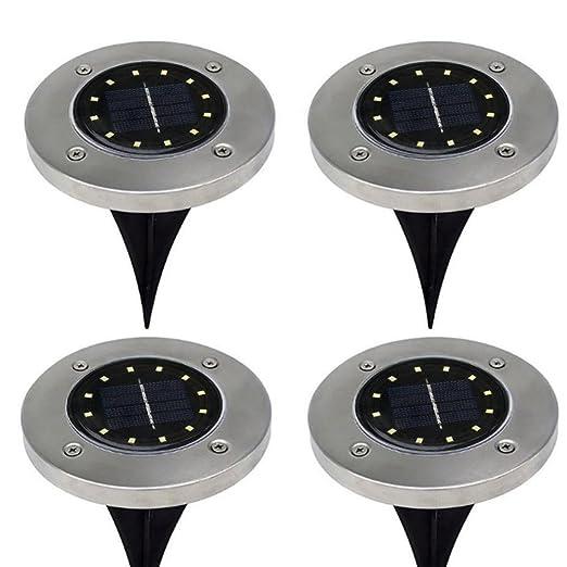 Amazon.com: xeduo LED Solar Powered luz de piso, 12LED la ...