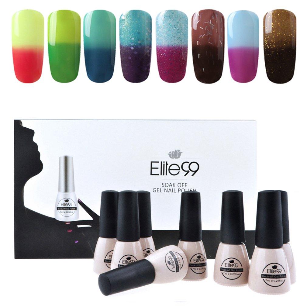 Amazon.com : Gel Nail Polish, CLAVUZ Soak Off Color Changing Nail ...