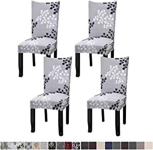 Fuloon a Super Fit Stretch Removable Washable Short Chair Protector Cover Seat Slipcover for Hotel,Dining Room,Ceremony,Banquet Wedding Part