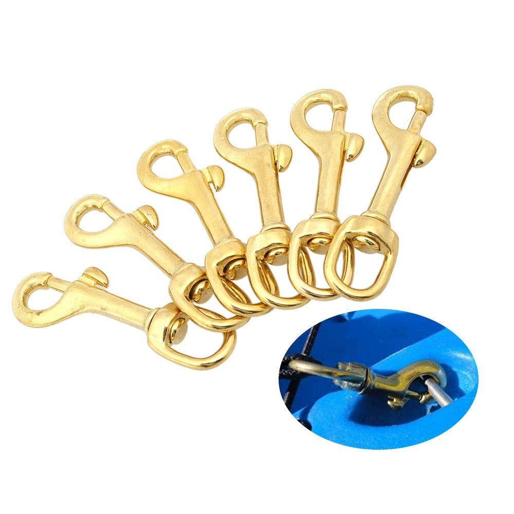 Heavy Duty Diving Swiver Hook Solid Brass Swivel Eye Lobster Clasp Bolt Snap Trigger Hook for Straps Bags Underwater Diving Equipment by Dingq