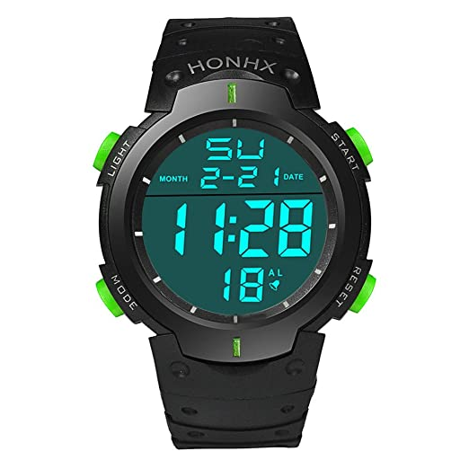 Digital Stopwatch for Men, DYTA Sport Watches 5 ATM Waterproof Outdoor LED Digital Watch Military