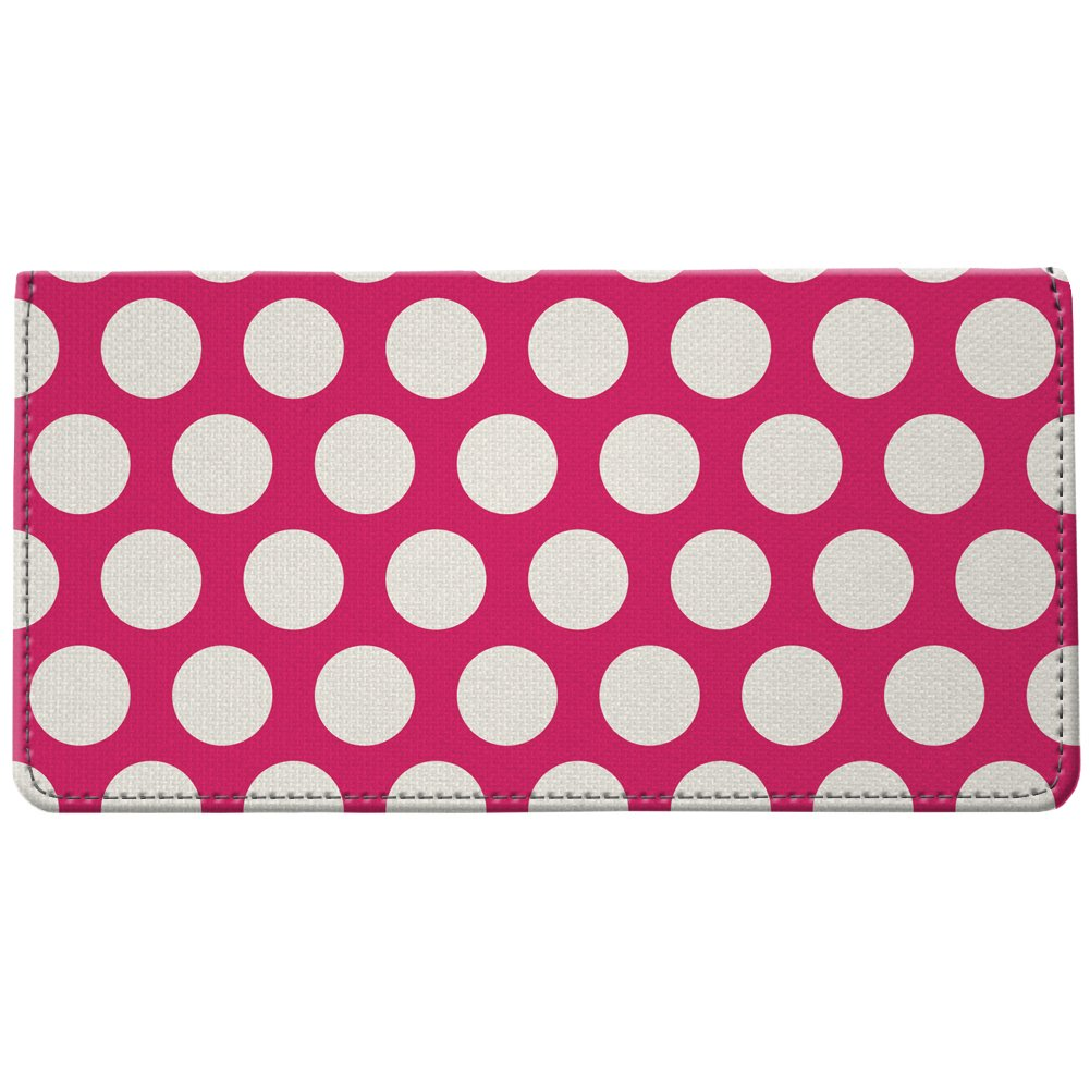 Snaptotes Pink Polka Dot Design Style Checkbook Cover One Size