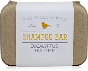 Eucalyptus Tea Tree Shampoo Bar. All Natural & Organic Ingredients. Sulfate Free, Detergent Free, Color Safe, and Silicone Free. Vegan, Plastic Free, Zero Waste Shampoo Soap