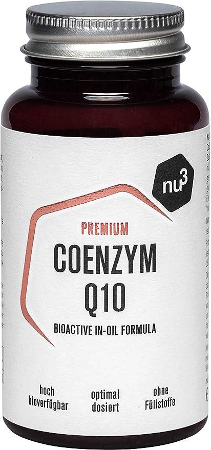 nu3 Premium Coenzimas Q10 - 60 cápsulas de alta dosificación (100mg ...