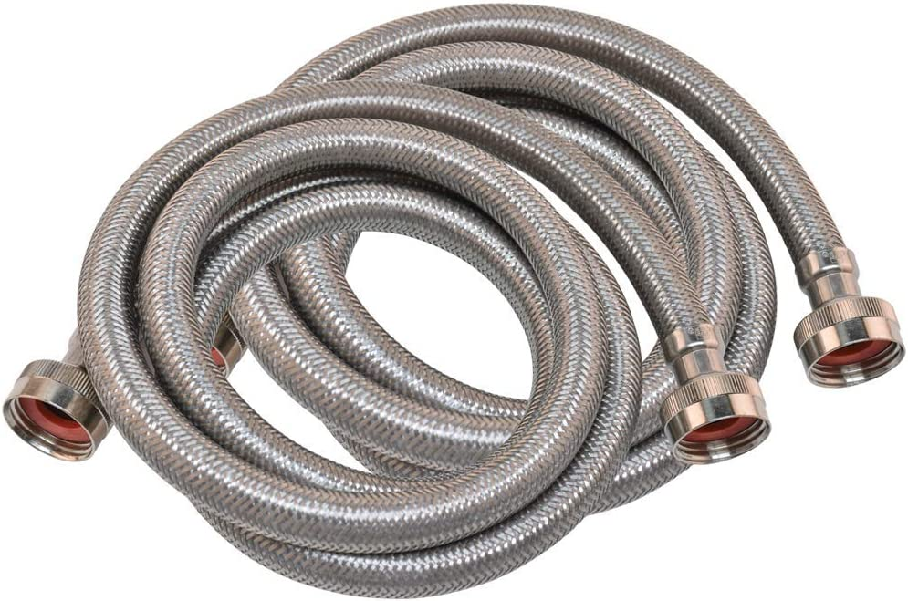 4 Pair Eastman 48370 Braided Stainless Steel Washing Machine Hoses