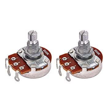 Homyl 2 X Audios Potenciómetros Potes para Guitarra Eléctrica Tonos B500K Grande Bass: Amazon.es: Instrumentos musicales