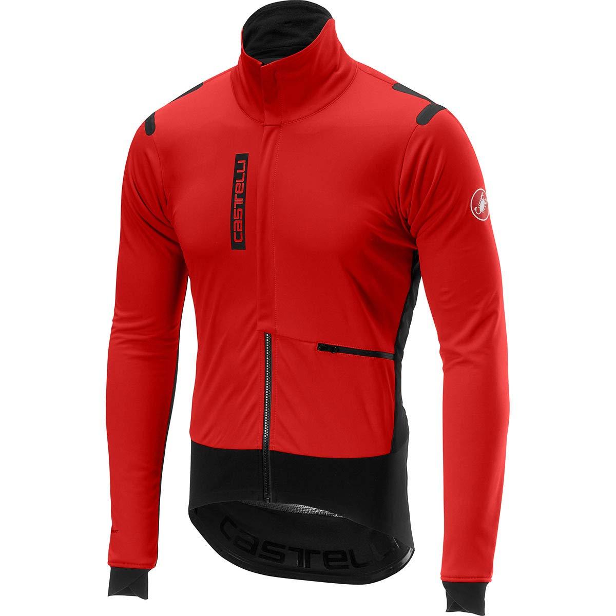 Castelli 2017 / 18 Men 'sアルファRosサイクリングジャケット – b17502 Large レッド/ブラック B07GPRFGVN
