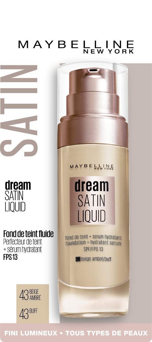 0e1a18588f0 Maybelline Dream Satin Fluide Beige Dore 21  Amazon.fr  Beauté et Parfum