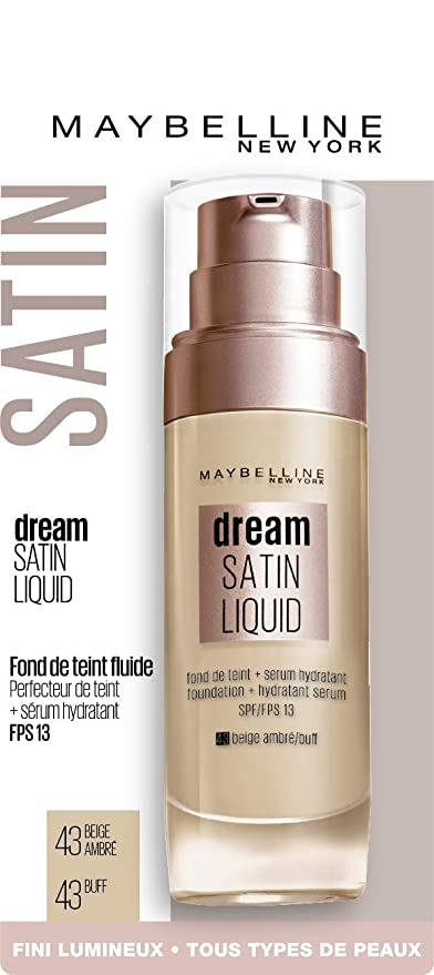 Maybelline New York Fond de Tient Dream Satin Liquid FPS 13 - 43 Beige  Ambré 30 f92e9126192