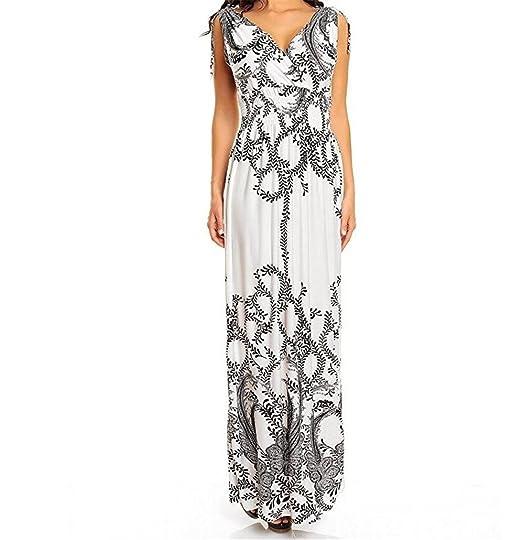 4c46250bbf Ladies Summer Beach Casual Holiday Maxi Day Dress: Amazon.co.uk: Clothing