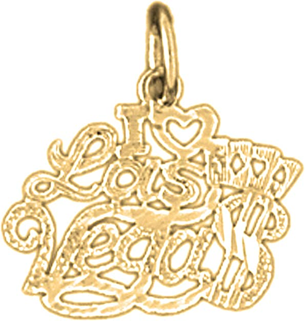 Jewels Obsession Silver I Love Las Vegas Necklace Rhodium-plated 925 Silver I Love Las Vegas Pendant with 18 Necklace