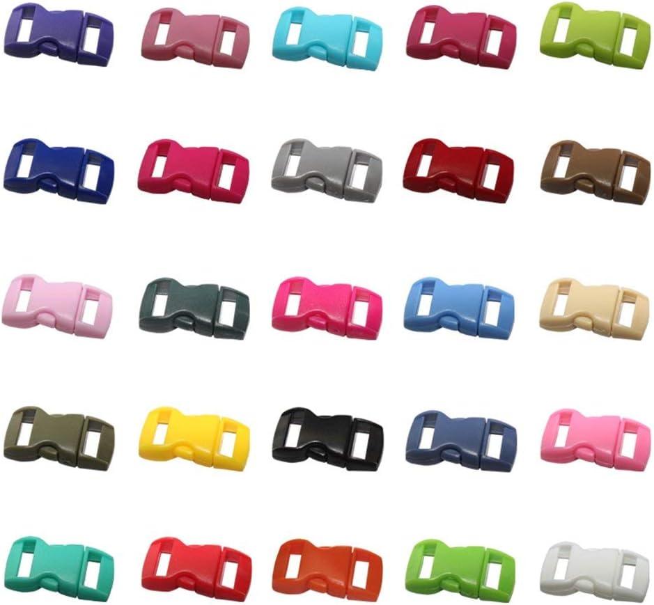 TOMYEER Lot de 50 Mini Boucles en Plastique 3//8