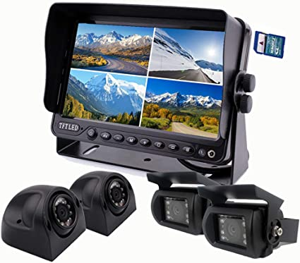 Safety Vehicle Backup Cameras CAMNEX 7 inch Monitor 1080P HD ...