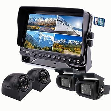 Zhiren Sistema de cámara de seguridad para coche, monitor de 9 pulgadas, grabadora DVR