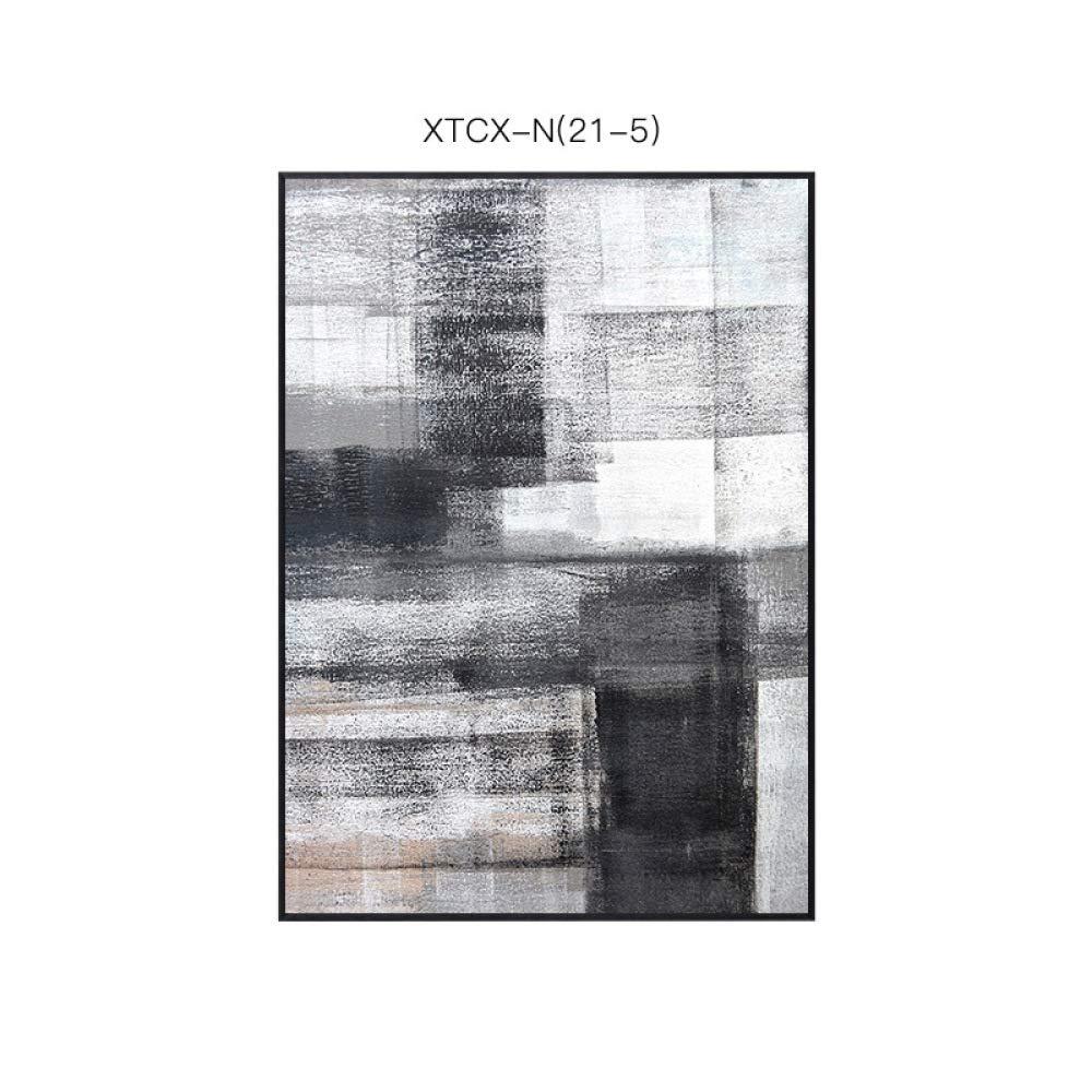 CWJ Pintura de Bloque Blanco Gris, Pintura Decorativa del patrón Simple Abstracto Europeo Simple patrón Moderno, Pintura Decorativa Creativa de la Sala de Estar del Dormitorio del Estilo literario,B,40  60 3db348