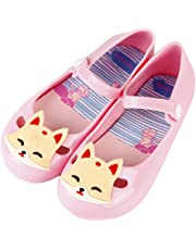 iFANS Girls Princess Jelly Shoes Mary Jane Flats Cute Fox Sandals for Toddler Little Kids