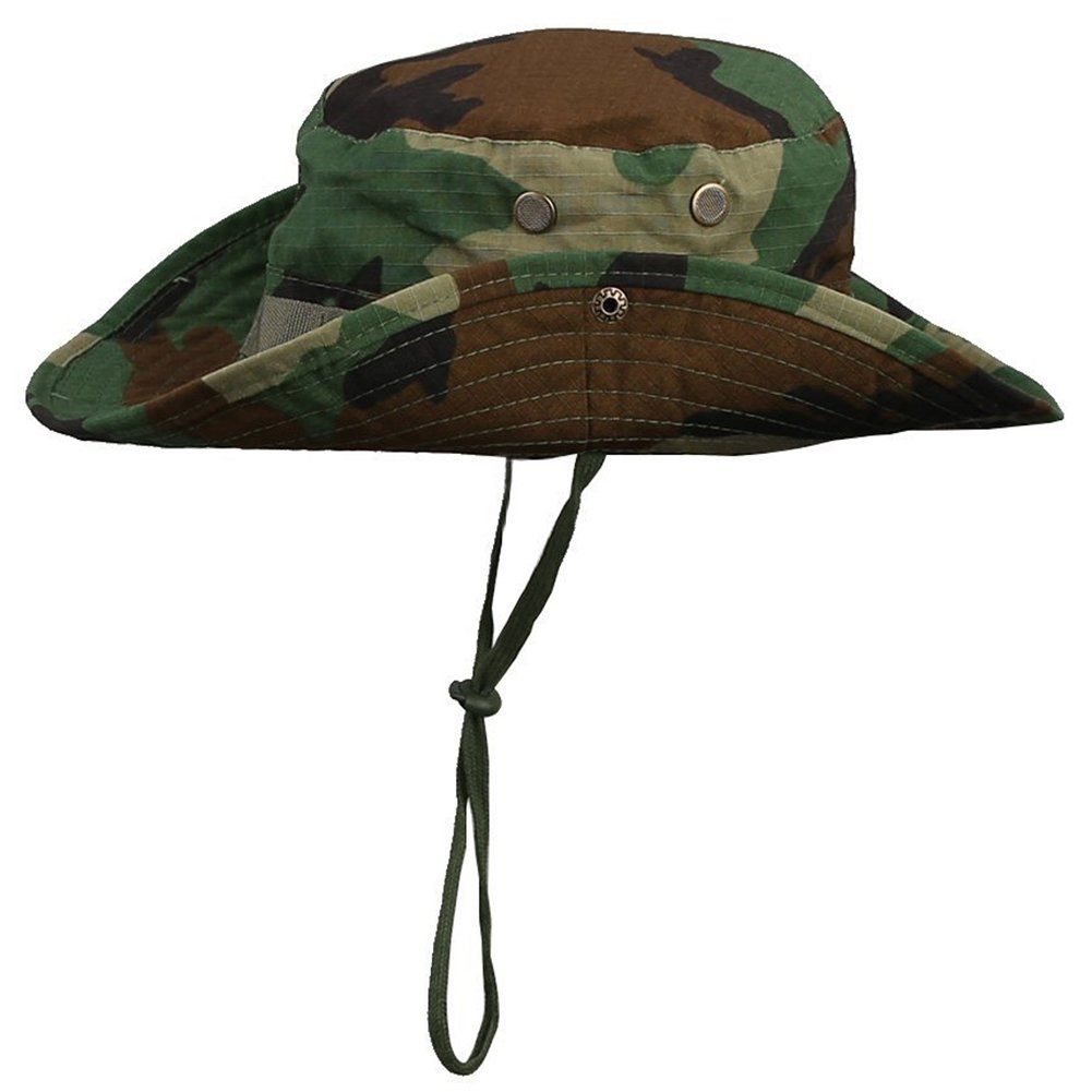Westeng Chapeau de brousse rond pour p/êcheur pour homme et femme style jungle chapeau de protection solaire pour loisirs ext/érieurs